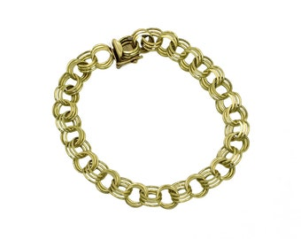 TRIPLE LOOP LINK Bracelet | 14 Karat Yellow Gold