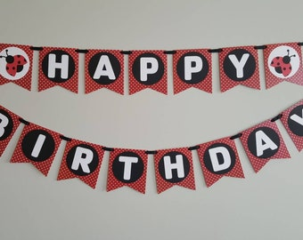 ladybug birthday, Birthday party, birthday decorations, ladybug banner, ladybug party, party decorations, birthday banner, ladybug, lovebug