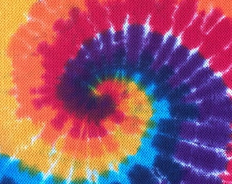 Tie Dye Rainbow Bath Towels and Bath Sheets
