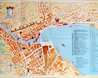 Lucerne map print Etsy