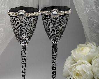 Champagne flutes Black champagne flutes Champagne flutes bulk Black champagne glasses Black champagne flutes bulk Black toasting flutes