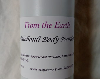 Body Powder- Organic, Talc Free,  Aluminum Free, Silky Smooth, Kaolin Clay, Arrowroot Powder, 4 oz