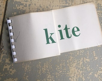 VINTAGE Word Flash Cards - Phonetic Word Drill Cards - Educational Tool - School Supply