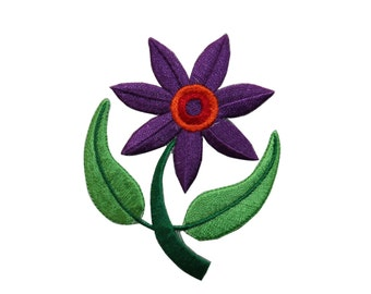 ID #6501 Purple Pink Daisy Flower Iron On Embroidered Patch Applique