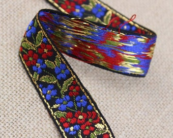 1 Yard of Brocade Ribbon Trim 0.75 Inches Wide