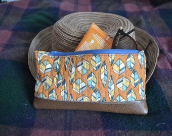 Small Pouch/ Zipper Pouch/ Quilted Zipper Pouch