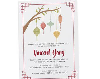 red egg party invitations