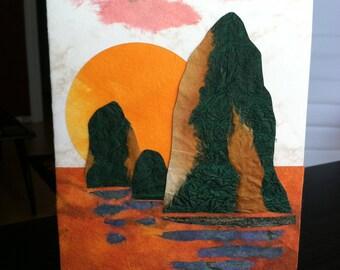 Handmade Origami Oregon Coast Card