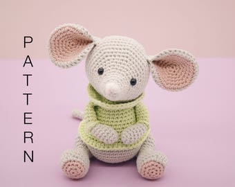 Amigurumi crochet cute mouse pattern - Albert the mouse PATTERN ONLY (English)