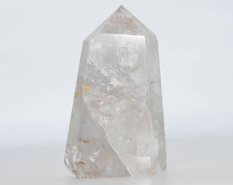 9.11 lb Clear Quartz Crystal Point- Coffee Table, Altar Crystal, Crystal Healing, Reiki, Meditation, Crystal Grid
