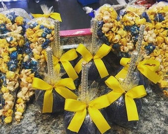 Candy Popcorn Cone Bags & Candy Apples Party Favor Package