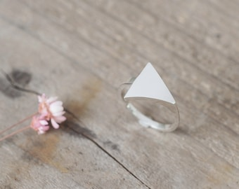 Minimal triangle Ring 925 Sterling Silver Minimalist Jewelry