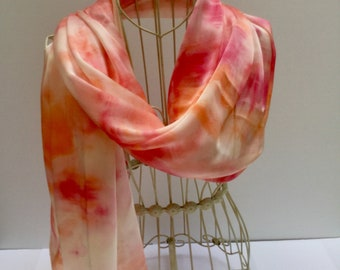 Unique hand painted silk scarf, hand painted silk scarves, scarf, unique gift scarf, gift for her, gift scarf,  Silk scarf, scarf