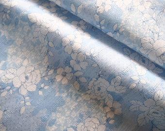 Beautiful fabric Japanese blue liberty print fashioned 114 * 50 cm