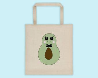 Tote Bag, Avocado Design Tote Bag, Cute Tote Bag, Canvas Tote Bag, Shopping Bag, Books Bag, Funny Tote Bag, Shoulder Bag, Large Tote Bag
