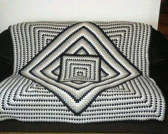 Plaid - blanket square make crochet (made to order)