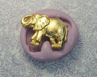 Silicone Elephant Mold Polymer Clay Fondant Resin Wax Cabochon Mold Chocolate Mold Elephants