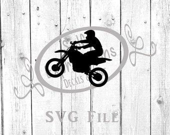 Dirt Bike motocross mx boy man peg svg download circuit silhouette file