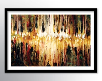 11x17 PRINT Abstract Painting on Glossy Cover Stock, Wall Art, Earth Tone Colors by Federico Farias