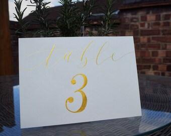 Hand-written Wedding Table Names - Modern Calligraphy
