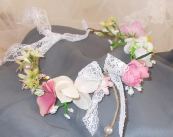 bohemeflower headband crown vintage hair bohemian
