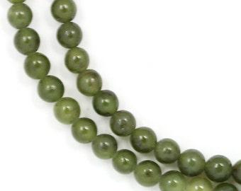 Nephrite Jade Beads - 4mm Round