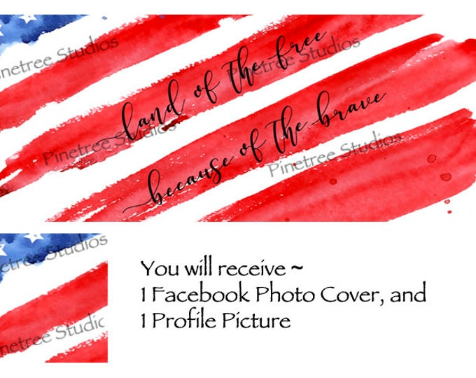 Land of the Free . . .   ~ Facebook Blank Cover Photo and Profile Picture