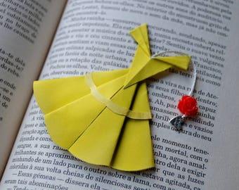 Princess origami bookmark Paper