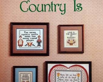 Country Is Leaflet 6 By Laura Conley And The Cross Stitch Connection Vintage Cross Stitch Pattern Leaflet 1983