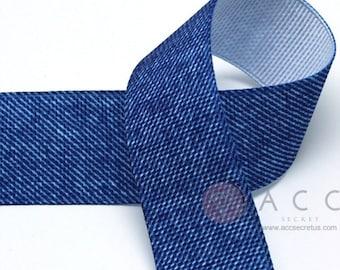 5yards 25mm(1'') Light Blue Denim Grosgrain Ribbon