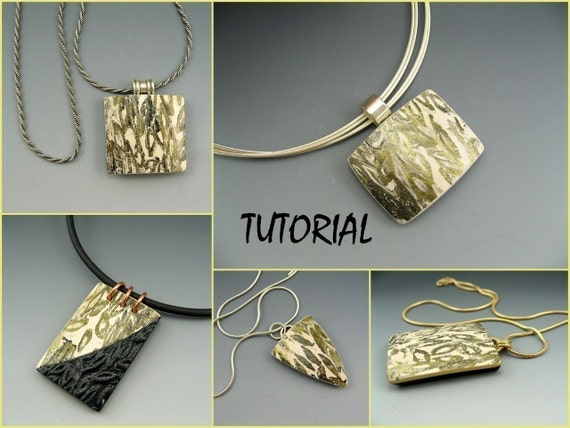 Tutorial polymer clay pendant construction and decorative surface tutorial polymer clay pendant construction and decorative surface technique from stonehousestudio on etsy studio mozeypictures Image collections