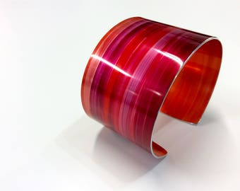 Ruby 40 mm Anodised Aluminium Cuff