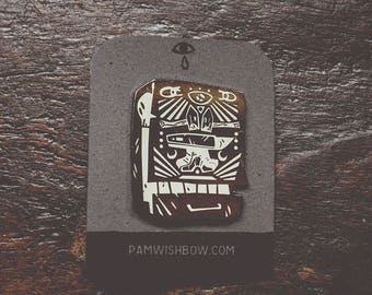 Strike - artist series lapel enamel pin