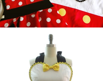 Retro Apron - Ms. Mouse Womans Aprons - Vintage Apron Style - Pin up Rockabilly Cosplay Lolita