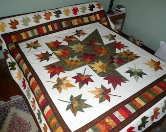 Bed Cover Quilt, Autumn Leaves Quilt, Lidia B