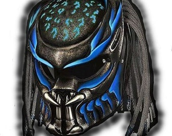 Predator Helmet Street Fighter Fiber Material DOT Approved