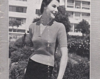 ON SALE Vintage 1940s - Paton's Knitting Pattern No 307 For Women/Ladies - Original Pattern