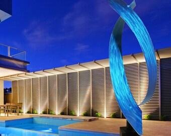 """Modern Abstract Metal Art Indoor Outdoor Decor Sculpture -  """"Typhoon"""" by Dustin Miller"""