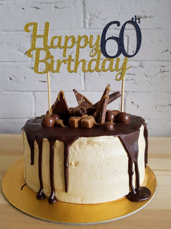 60th Birthday Cake Topper 60th Cake Toppers 60 Cake Topper 60th