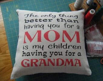 Pillow  - Mom - Grandma