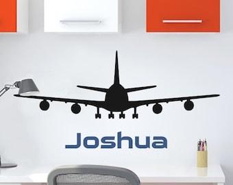 "WW920  Jumbo Jet Airplane Vinyl Wall Decal 36"" wide"