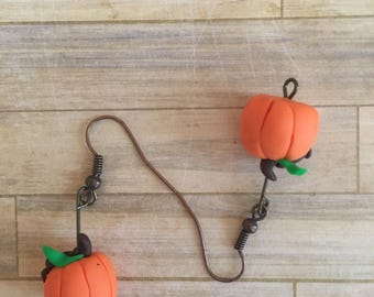 Pumpkin Dangle Earrings
