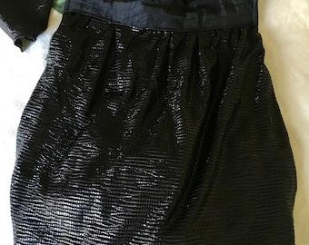 Stylish Black Carry Bag - Black Fold up Tote - Sequin Bag - Bling Sparkle Bag - Black Hand Bag - Australian Seller