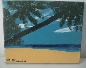 "Acrylic Painting - Original - 8"" x 10"" - Beach Day"