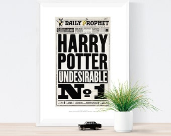 Undesirable Number 1 - The Daily Prophet Art Print from Harry Potter