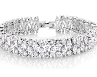 Crystal Bracelet Crystal Cuff Bridal Bracelet Wedding Bracelet Statement Bracelet Statement Jewelry CZ Bracelet CZ Wedding Jewelry