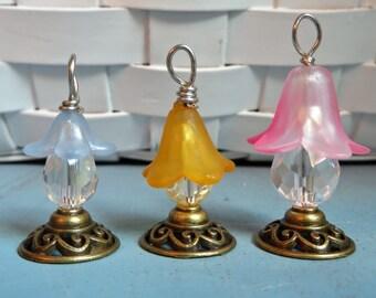 Accesorios de hada de flor de linterna miniatura linterna de jardín de hadas