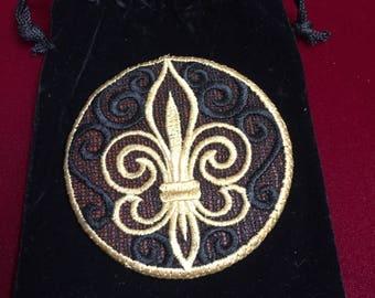 Fleur de Lis Pocket Mirror  -- #30,113