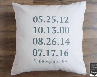 Custom Pillow, Decorative Pillows, Designer Pillow, Throw Pillow, Quote Pillow, Custom Phrase,Dates Pillow,Anniversary Pillow,Custom