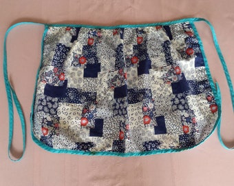 Vintage child's apron, patchwork, pinny, kitchen, cooking
